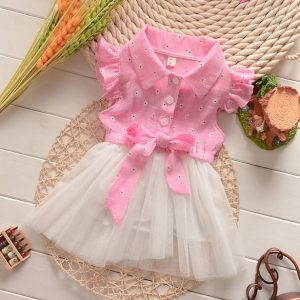 Ball gown Tutu dress with flutter sleeves for girls