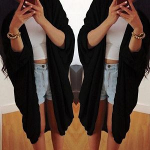 black-long-cardigan