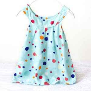 Blue Kids polka dots sundress