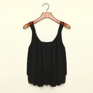 Chiffon loose sleeveless tank top blouse