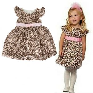 Kids leopard print party dress