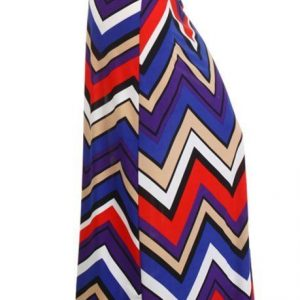 Multi print shockwave maxi skirt