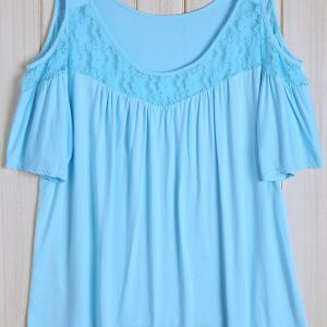 Plus size Baby Blue Blouse