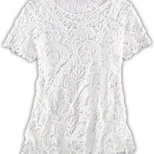 White Lace plus size blouse