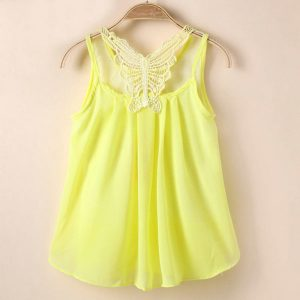 girls party tutu sleeveless chiffon summer dress