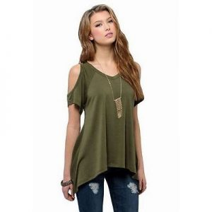 green-cold-shoulder-plus-size-t-shirt-top