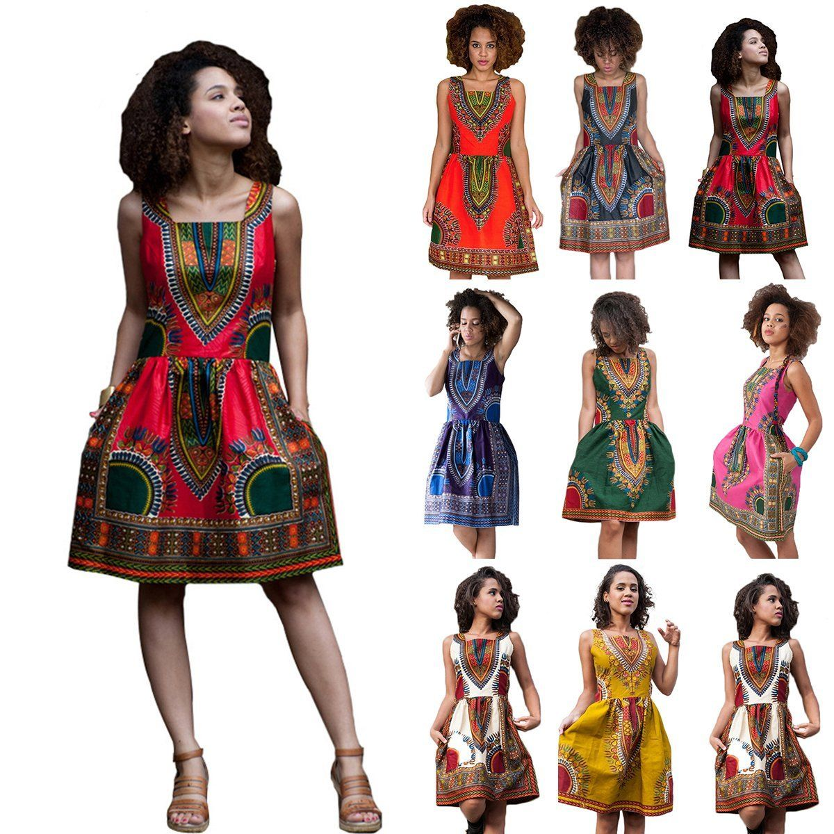 african print dashiki dress addicted2fashion