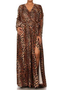 Animal Print Plus Size Maxi Dresses