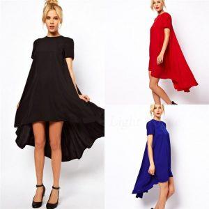 Asymmetrical chiffon dress