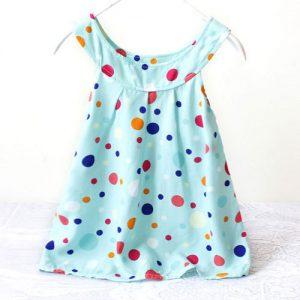 Blue Kids polka dots sundress