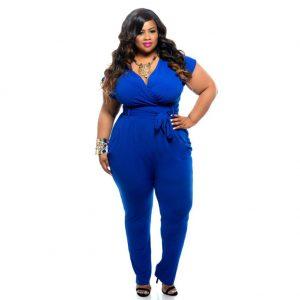 Blue jumpsuit plus size