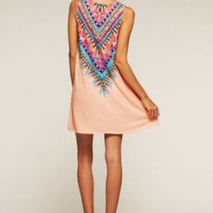 Boho fine detailed design dress