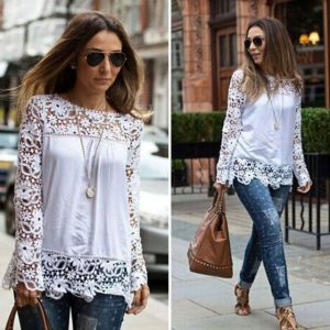 Cool lace summer blouse