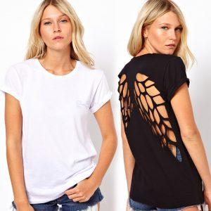 Hollow Spider Web design T shirt
