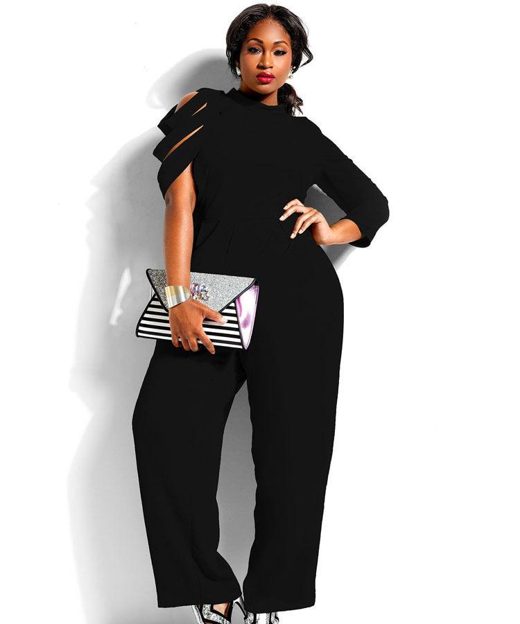 Stunning Plus Size Loose Fashion Sleeve Jumpsuit Addicted2fashion