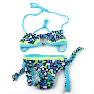 Little girls 2 piece blue swimsuit