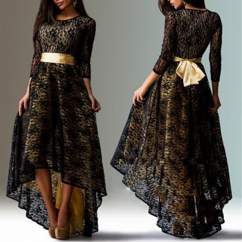 ELEGANT LACE SHEATH GOWN * PLUS SIZE AVAILABLE *