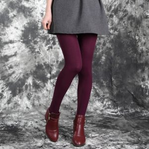 red-wine-thick-legging