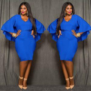 Skyblue plus size womens part dress