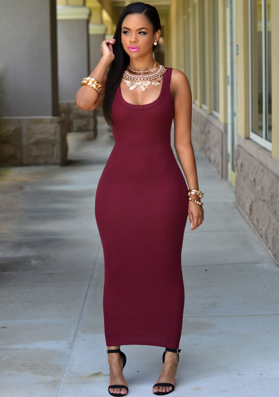 EYE CATCHING FITTED SUMMER TREND MAXI DRESS | ADDICTED2FASHION
