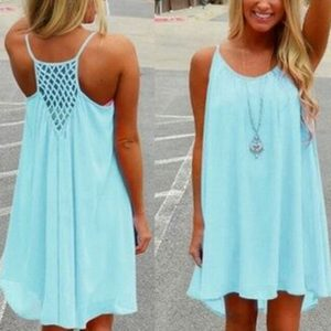 baby blue summer sundress