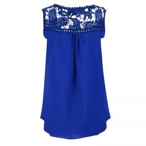 deep blue chiffon top blouse