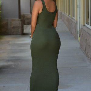 green Max dress