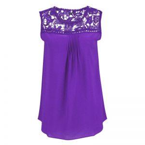purple chiffon lace top blouse