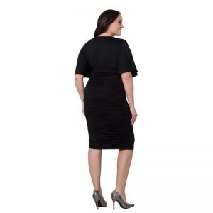 ruched black plus size dress
