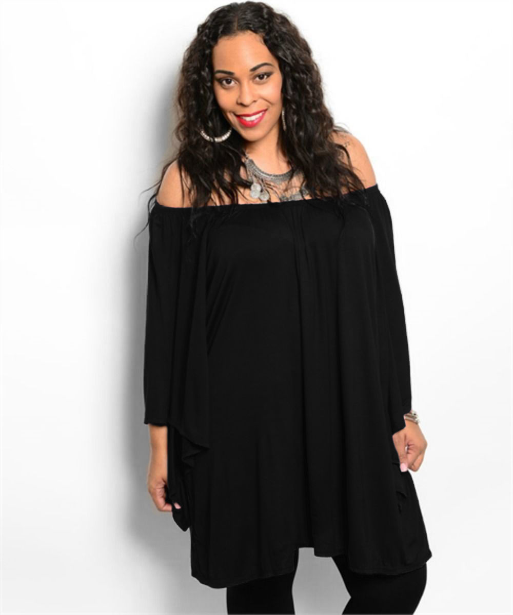 OFF SHOULDER PLUS SIZE TUNIC BLOUSE/DRESS *SALE*