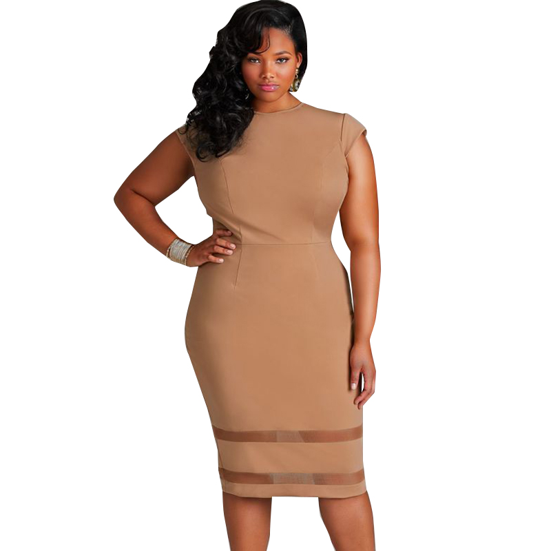 plus size sheer bottom bodycon midi dress | addicted2fashion