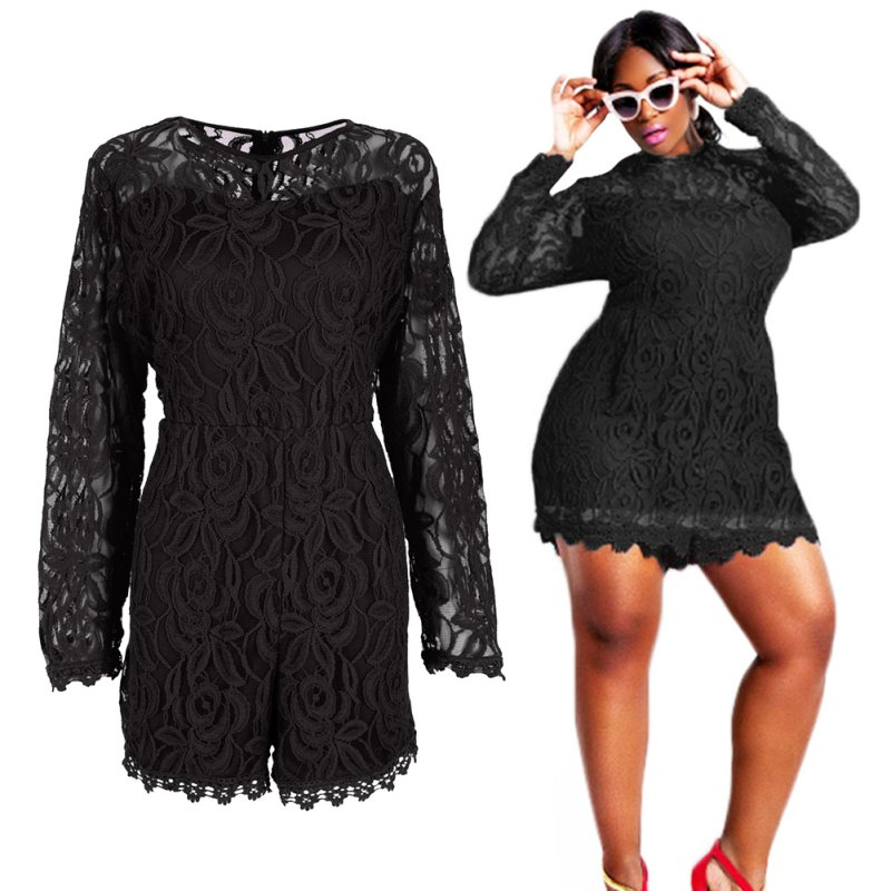 6475b0fa149 ... PLUS SIZE CROCHET LACE ROMPER Return to Previous Page. New. lightbox