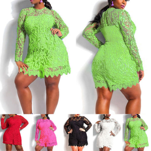 PLUS SIZE CROCHET LACE ROMPER