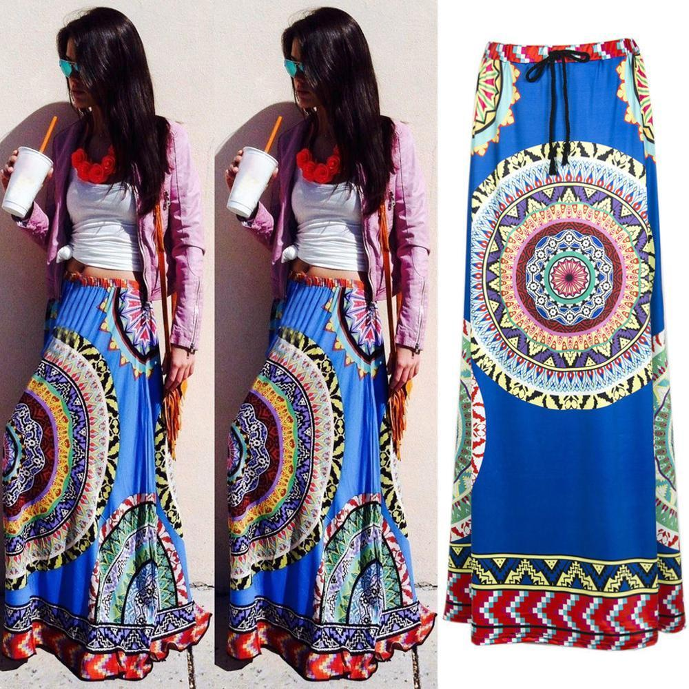 African Dashiki print maxi skirt