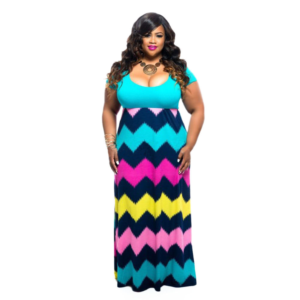 PLUS SIZE TIE DYE MULTI PRINT MAXI DRESS