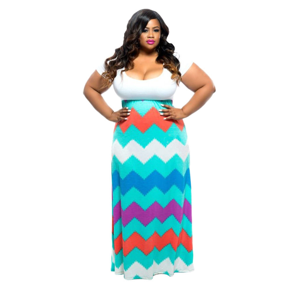 Multi color chevron dresses