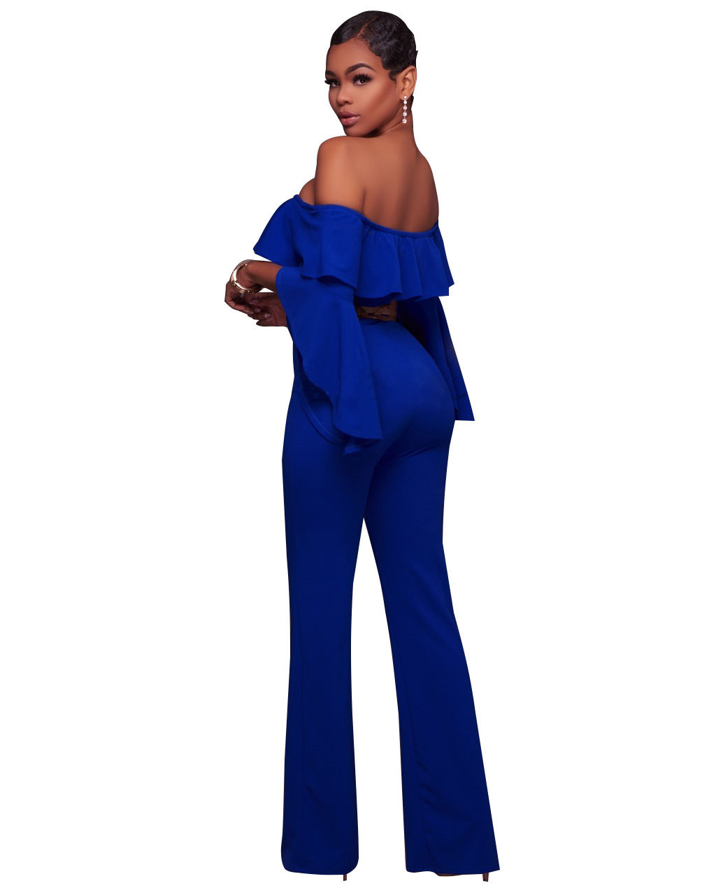 9014fcbf2db2 ... OFF SHOULDER RUFFLE BELL SLEEVE JUMPSUIT Return to Previous Page. New.  lightbox · lightbox · lightbox · lightbox · lightbox