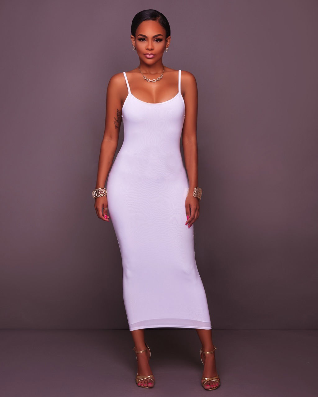 PLUS SIZE SLEEVELESS FITTED MIDI DRESS *OUT OF STOCK ...