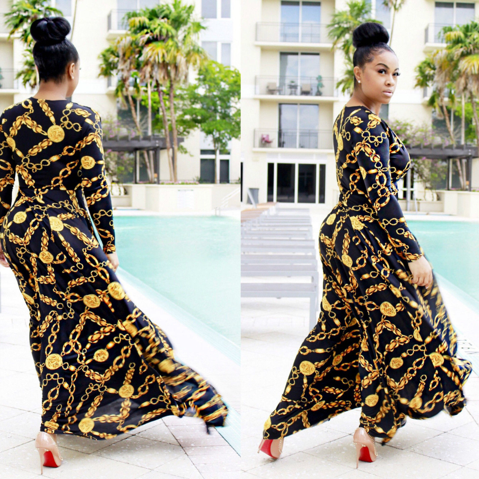 917281e23d931 OFF SHOULDER AFRICAN DASHIKI PRINT MAXI DRESS *SOLD OUT ...