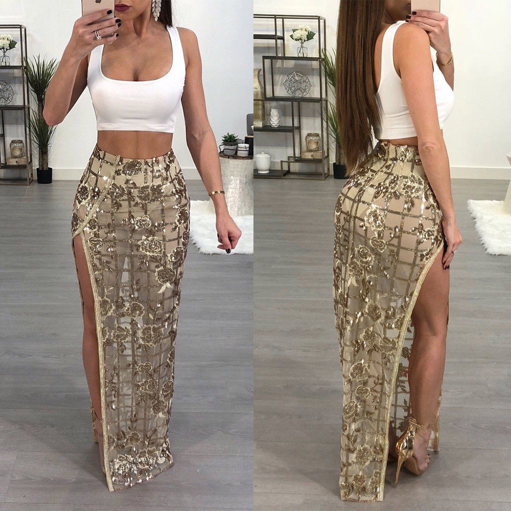 To acquire Waisted High maxi skirt with split pictures picture trends