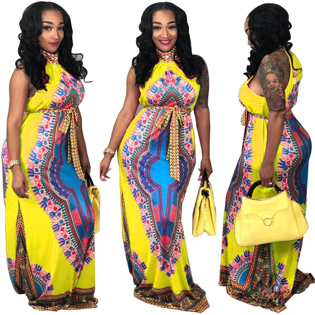 59fb46d84dc ... AFRICAN PRINT HALTER DESIGN MAXI DRESS  PLUS SIZE AVAILABLE  Return to  Previous Page. New. lightbox
