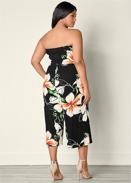 9b629de91a ... PLUS SIZE TUBE TOP FLORAL PRINT CULOTTE JUMPSUIT Return to Previous  Page. New. lightbox · lightbox