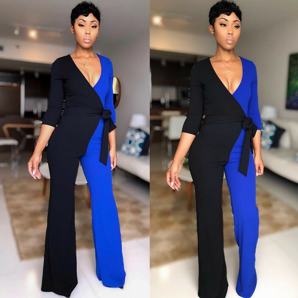7199f64f9482 ... COLOR BLOCK WRAP JUMPSUIT Return to Previous Page. New. lightbox